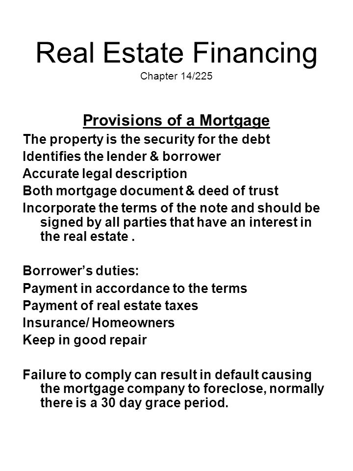 Real Estate Financing Chapter 14/225