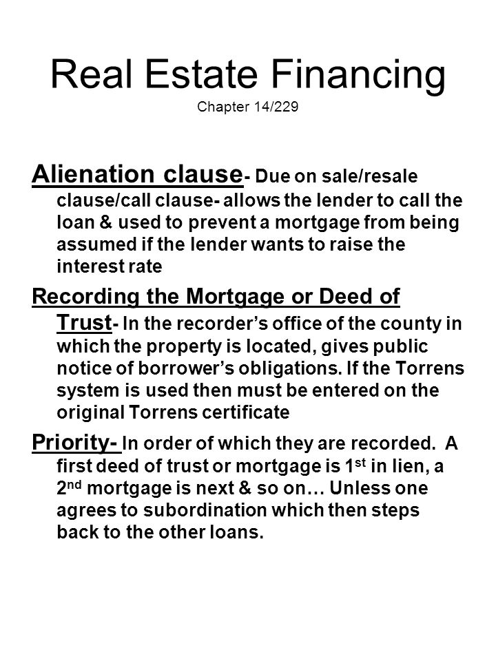 Real Estate Financing Chapter 14/229