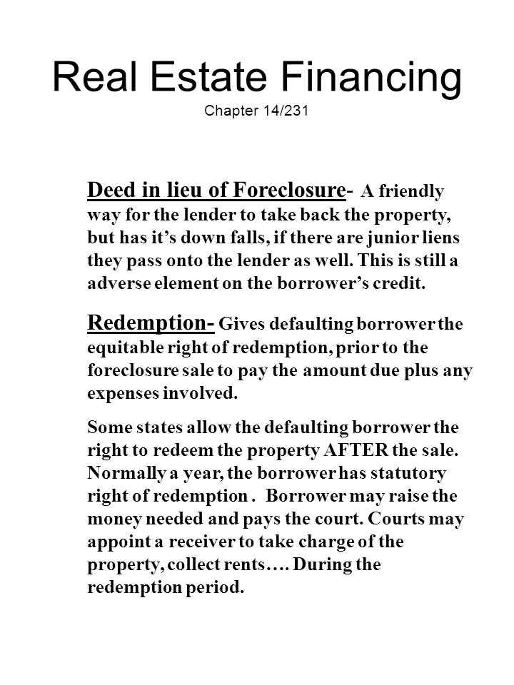 Real Estate Financing Chapter 14/231