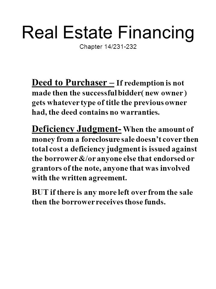Real Estate Financing Chapter 14/231-232