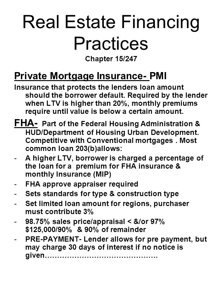 Real Estate Financing Practices Chapter 15/247