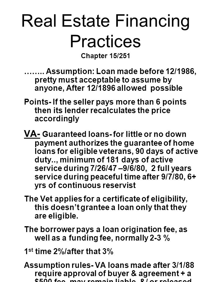 Real Estate Financing Practices Chapter 15/251