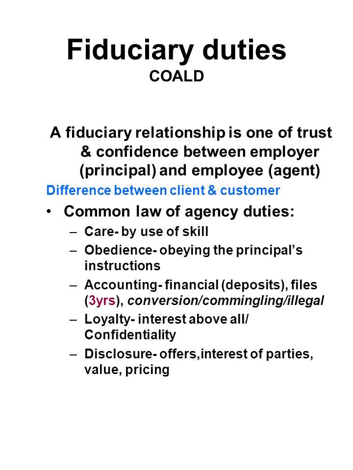 Fiduciary duties COALD