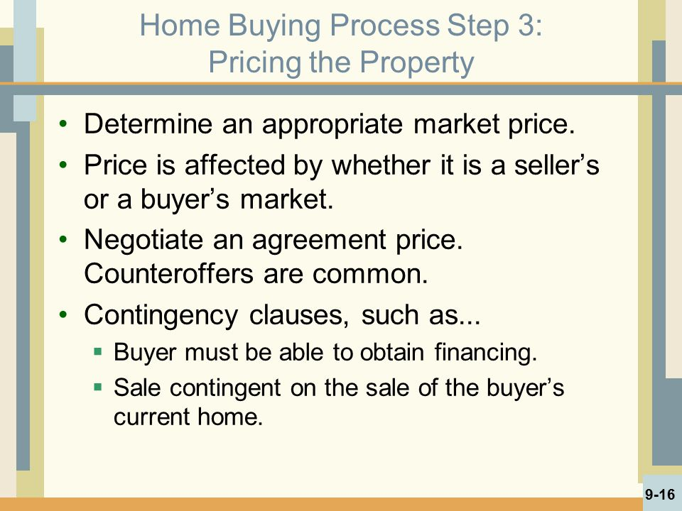 Home Buying Process Step 3: Pricing the Property