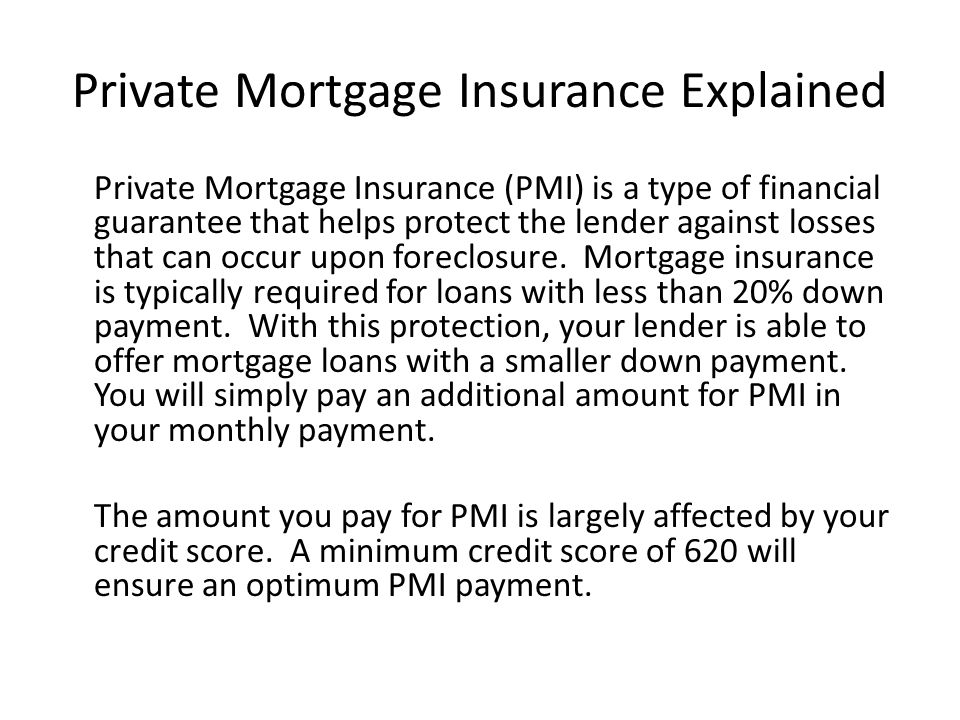 Private Mortgage Insurance Explained