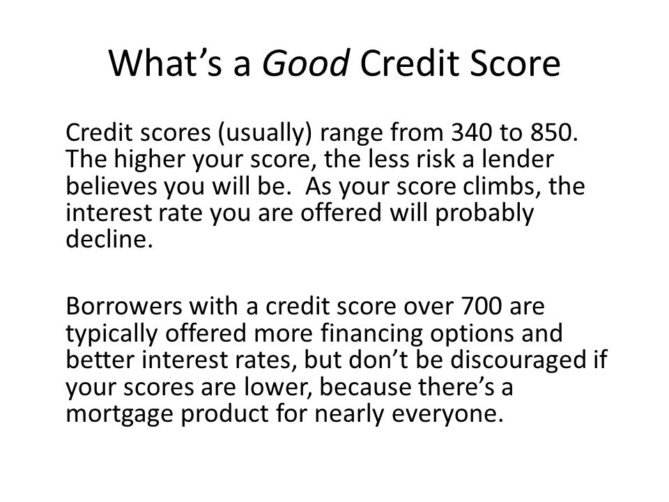 What's a Good Credit Score