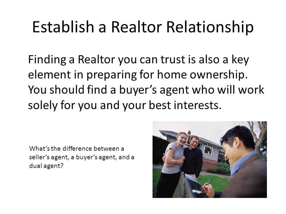 Establish a Realtor Relationship