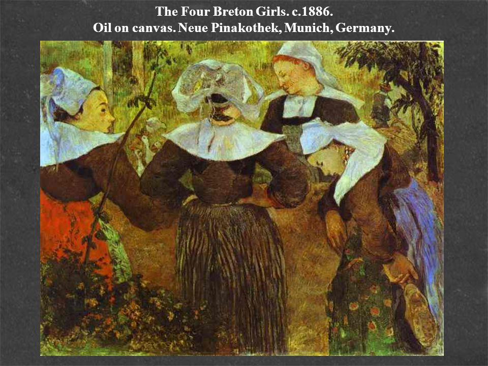 The Four Breton Girls. c. 1886. Oil on canvas