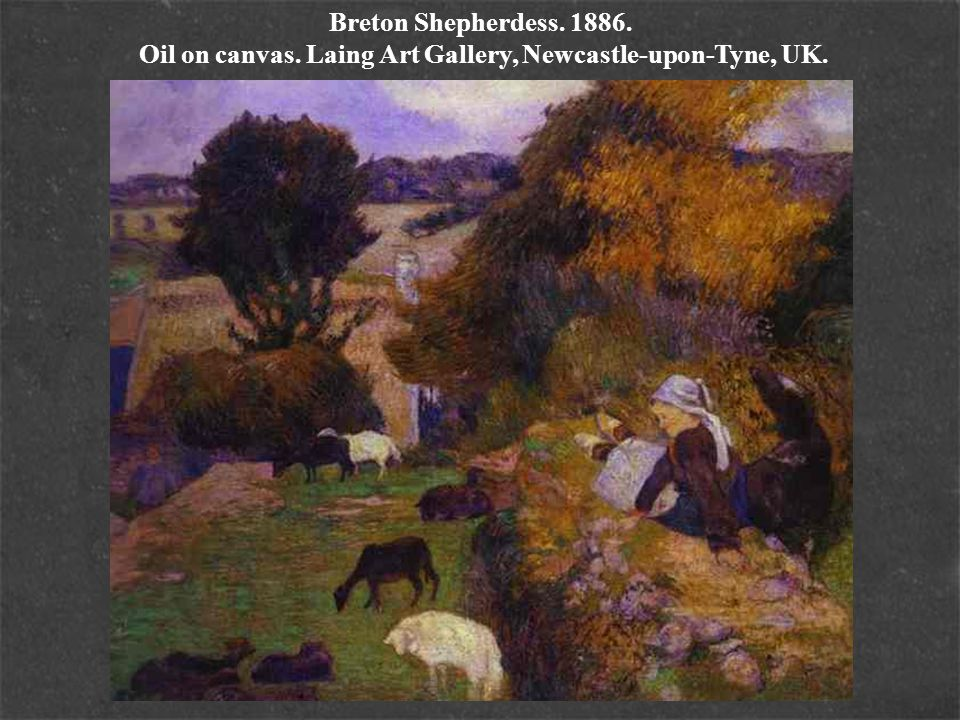 Breton Shepherdess. 1886. Oil on canvas