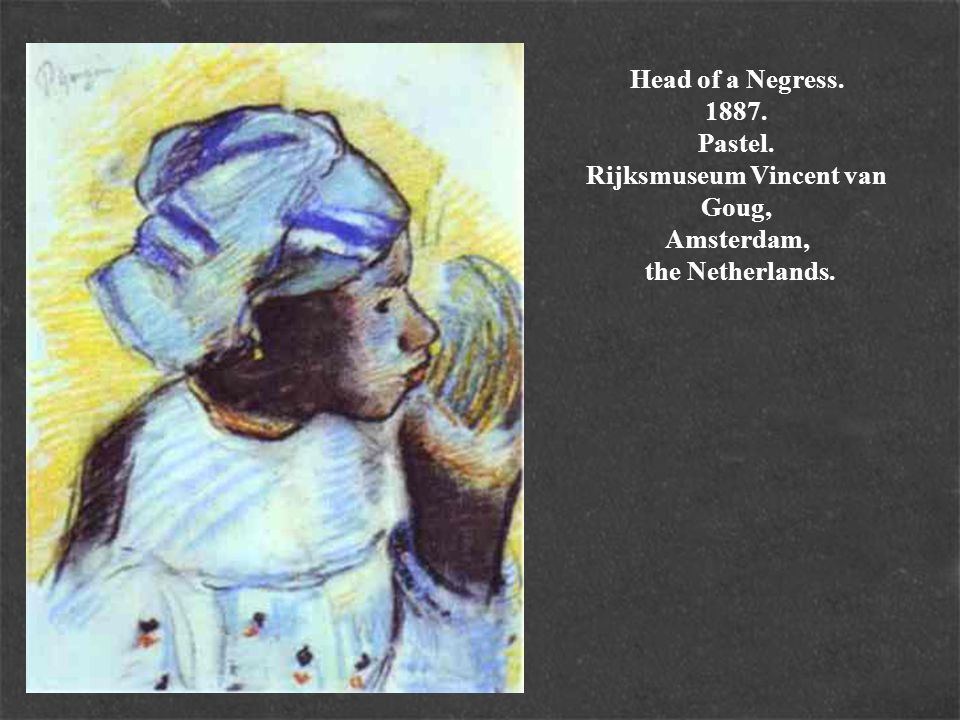 Head of a Negress. 1887. Pastel