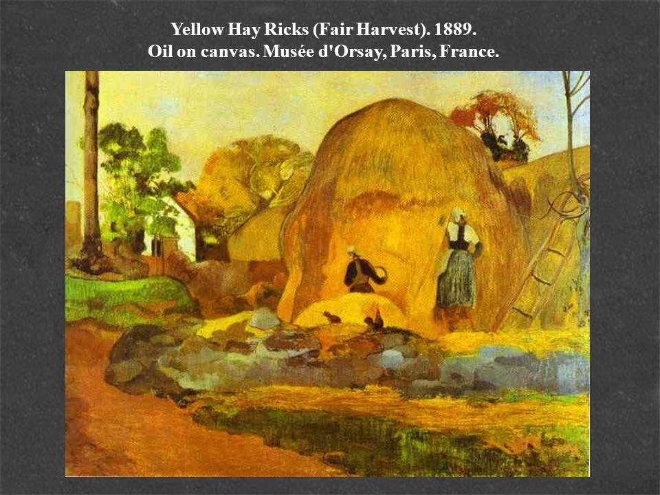 Yellow Hay Ricks (Fair Harvest). 1889. Oil on canvas