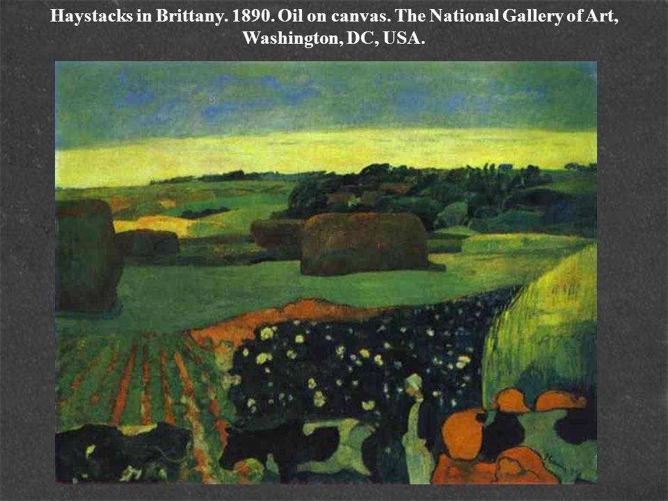 Haystacks in Brittany. 1890. Oil on canvas