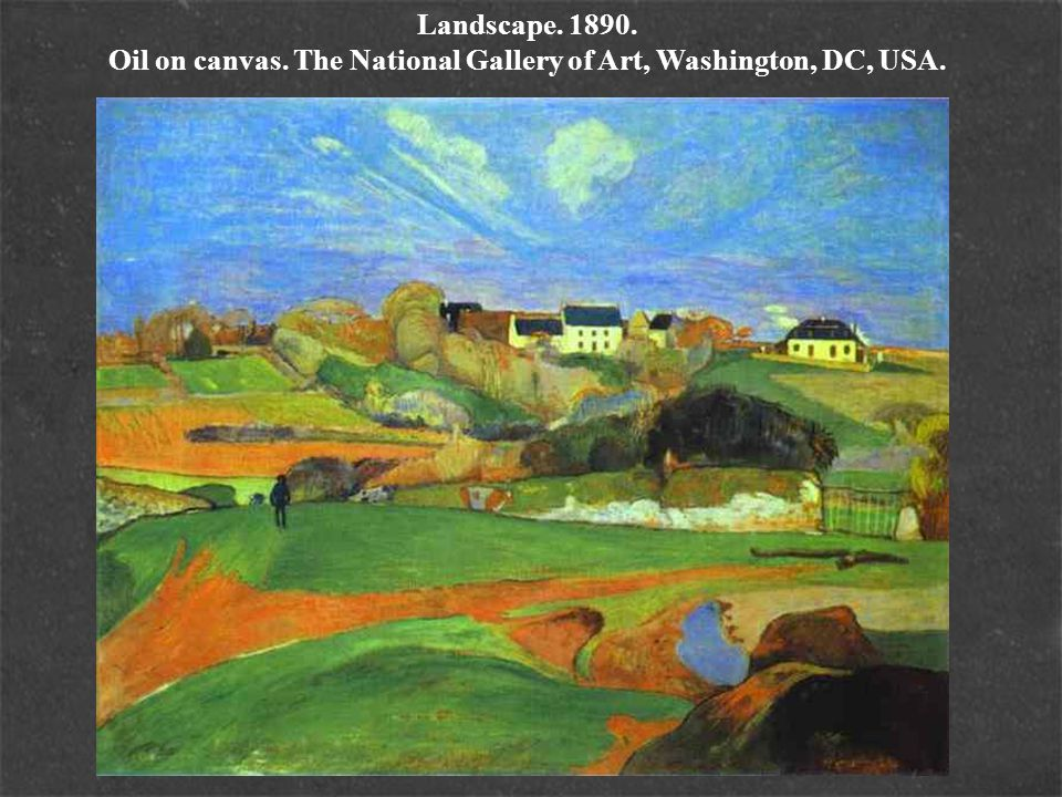 Landscape. 1890. Oil on canvas