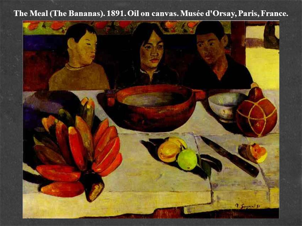 The Meal (The Bananas). 1891. Oil on canvas