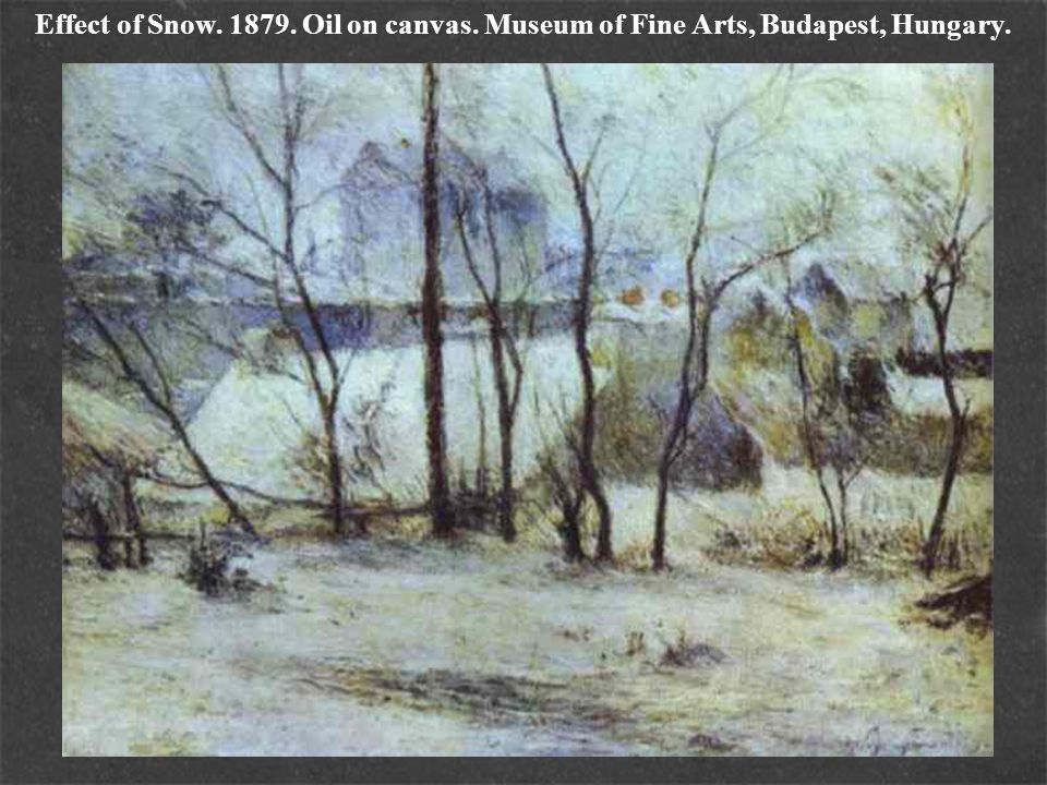 Effect of Snow. 1879. Oil on canvas
