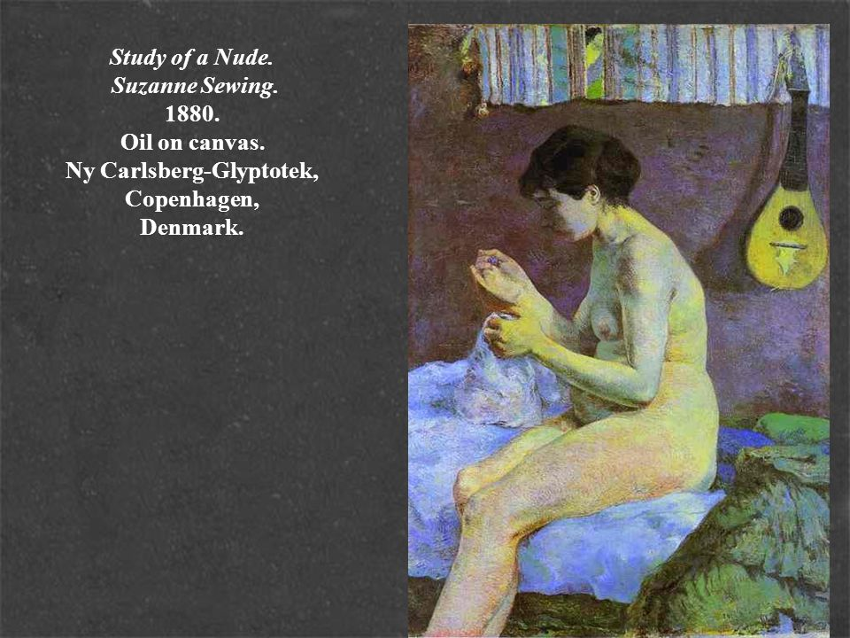 Study of a Nude. Suzanne Sewing. 1880. Oil on canvas