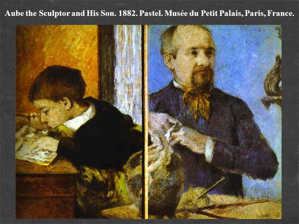 Aube the Sculptor and His Son. 1882. Pastel