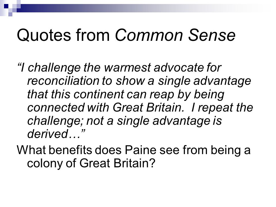 Quotes from Common Sense