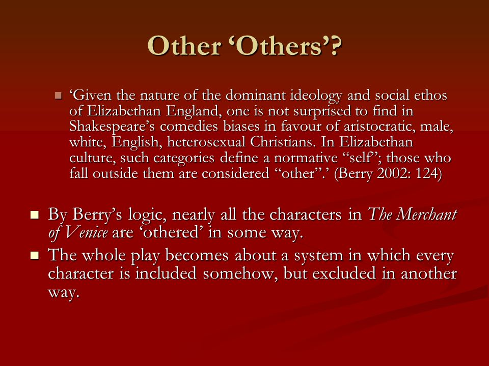 Other 'Others'