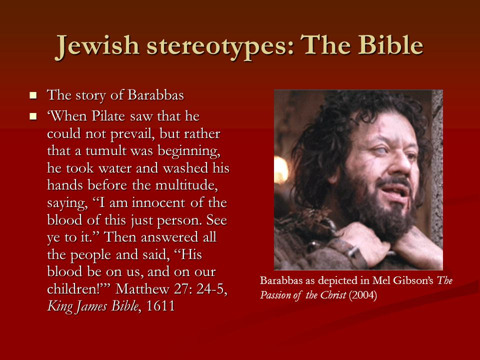 Jewish stereotypes: The Bible