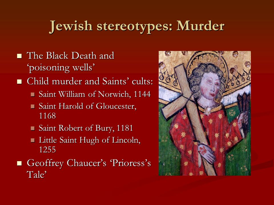 Jewish stereotypes: Murder