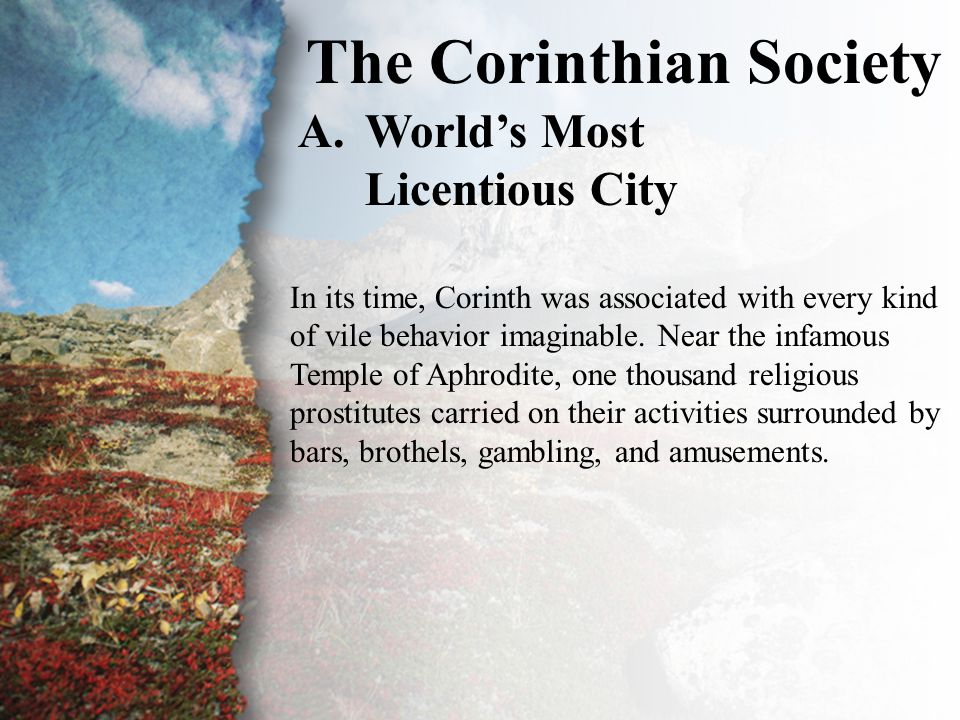 I. The Corinthian Society (A)