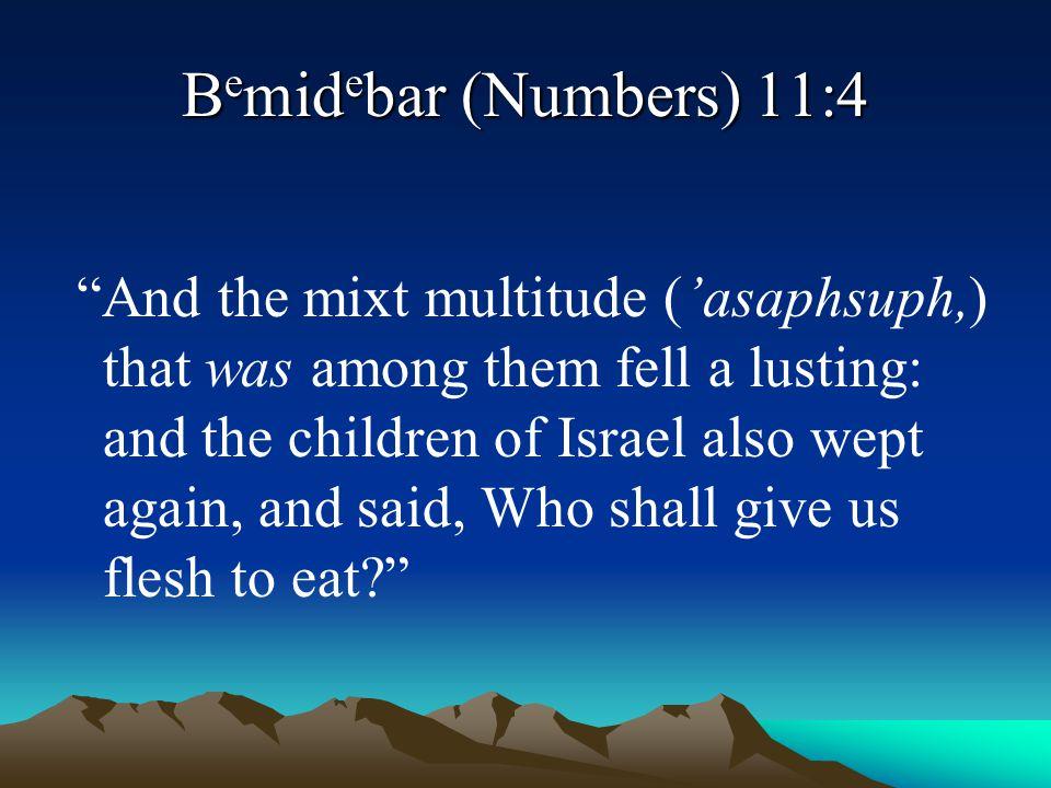 Bemidebar (Numbers) 11:4