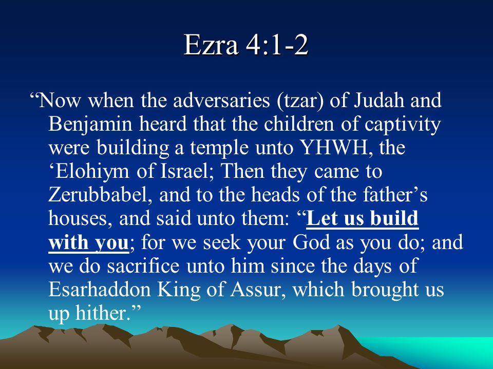 Ezra 4:1-2