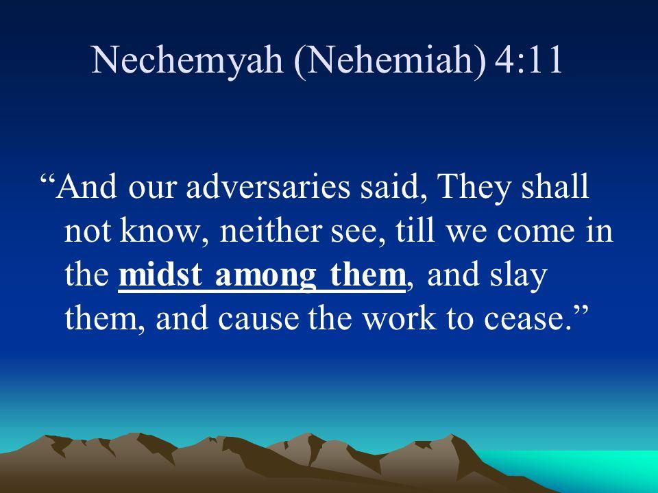 Nechemyah (Nehemiah) 4:11