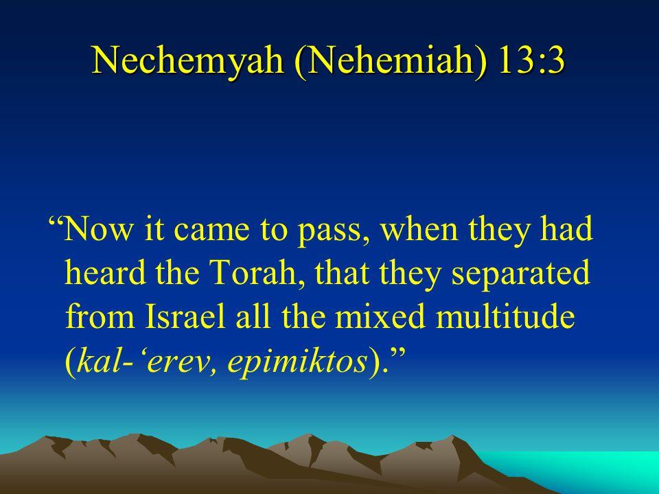 Nechemyah (Nehemiah) 13:3
