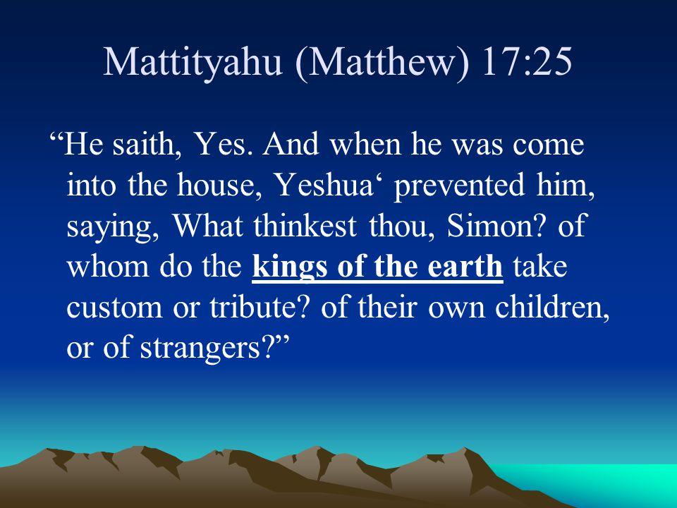 Mattityahu (Matthew) 17:25