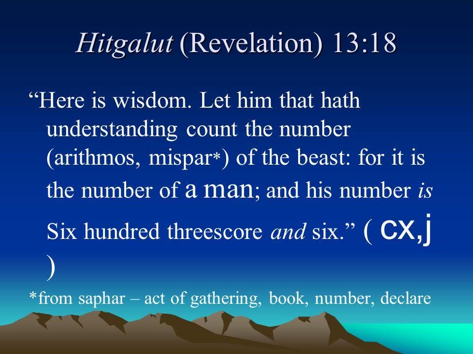 Hitgalut (Revelation) 13:18