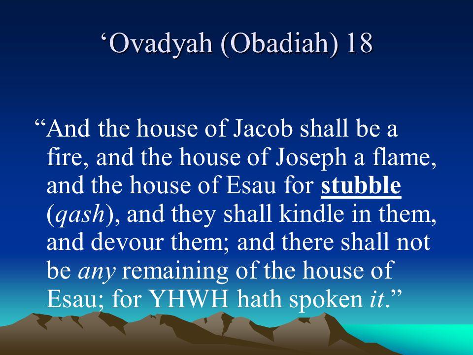 'Ovadyah (Obadiah) 18