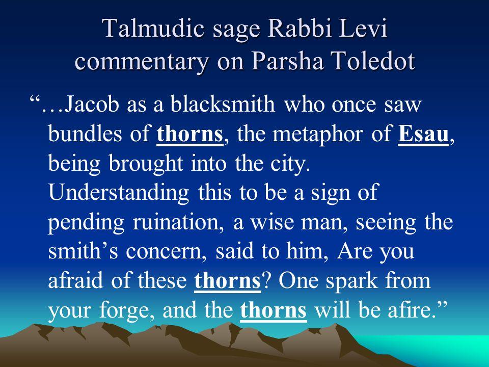 Talmudic sage Rabbi Levi commentary on Parsha Toledot