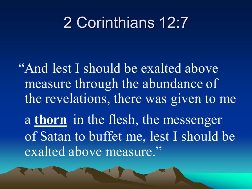 2 Corinthians 12:7
