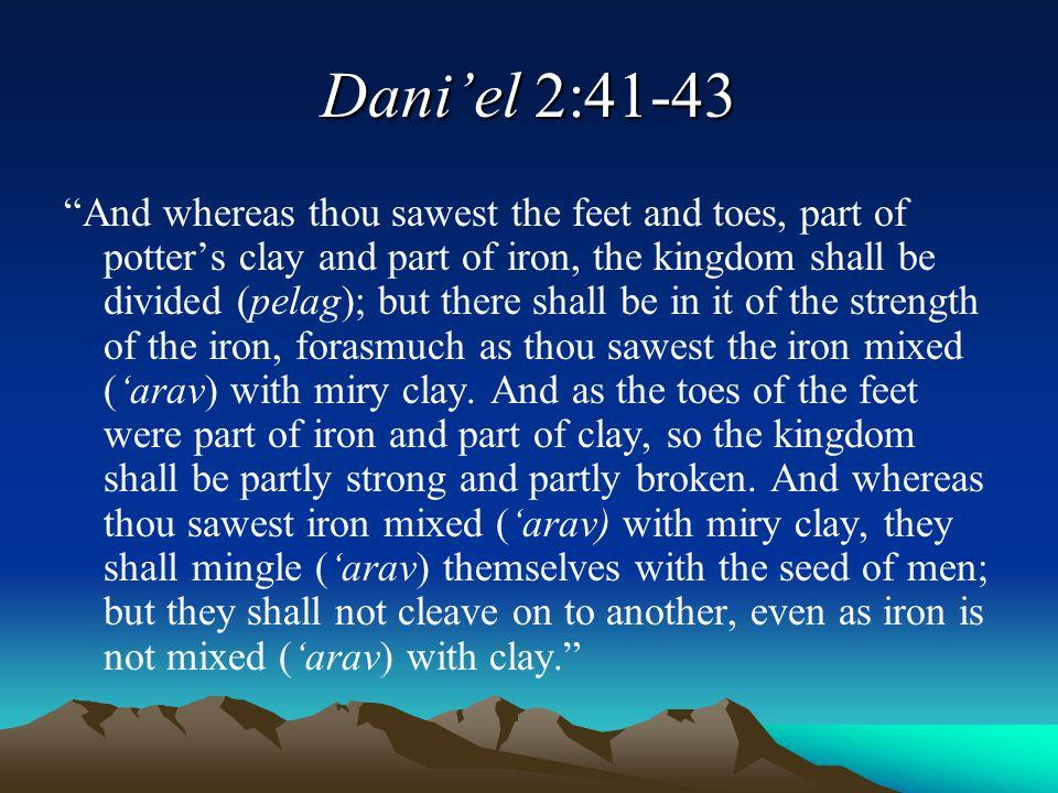 Dani'el 2:41-43