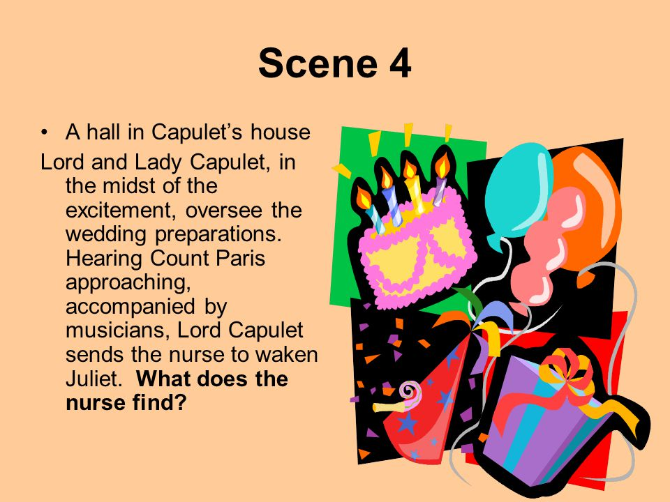 Scene 4 A hall in Capulet's house