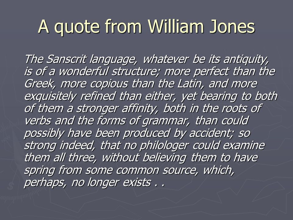 A quote from William Jones
