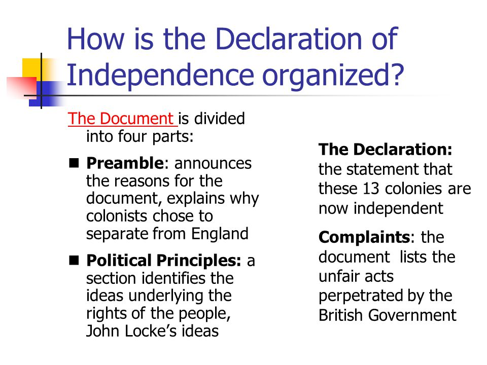http://slideplayer.com/slide/3569050/12/images/11/How+is+the+Declaration+of+Independence+organized.jpg