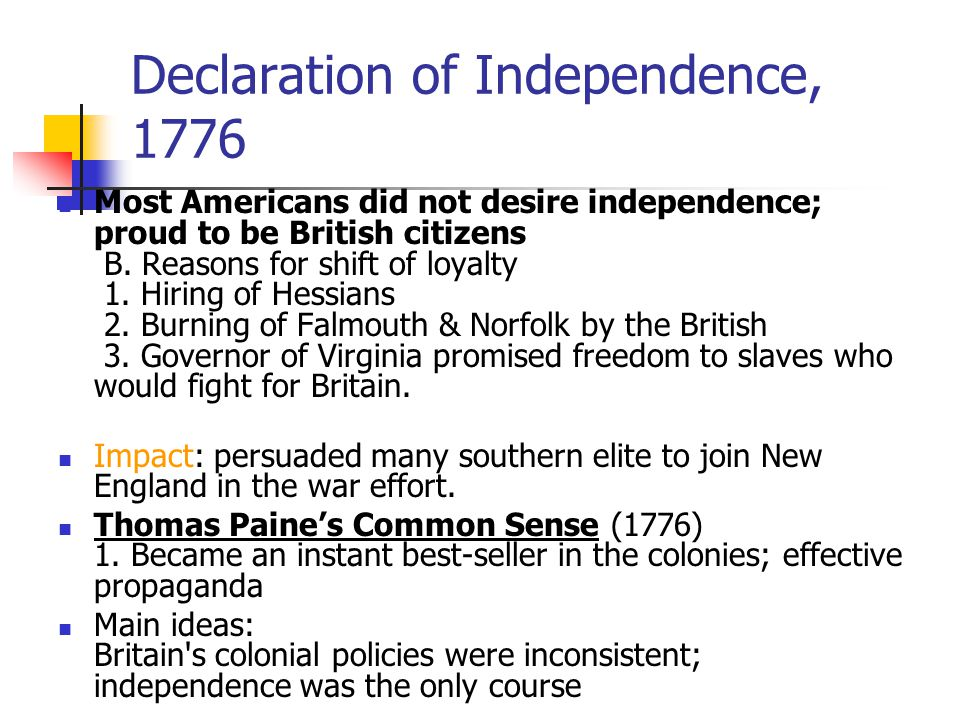Declaration of Independence, 1776