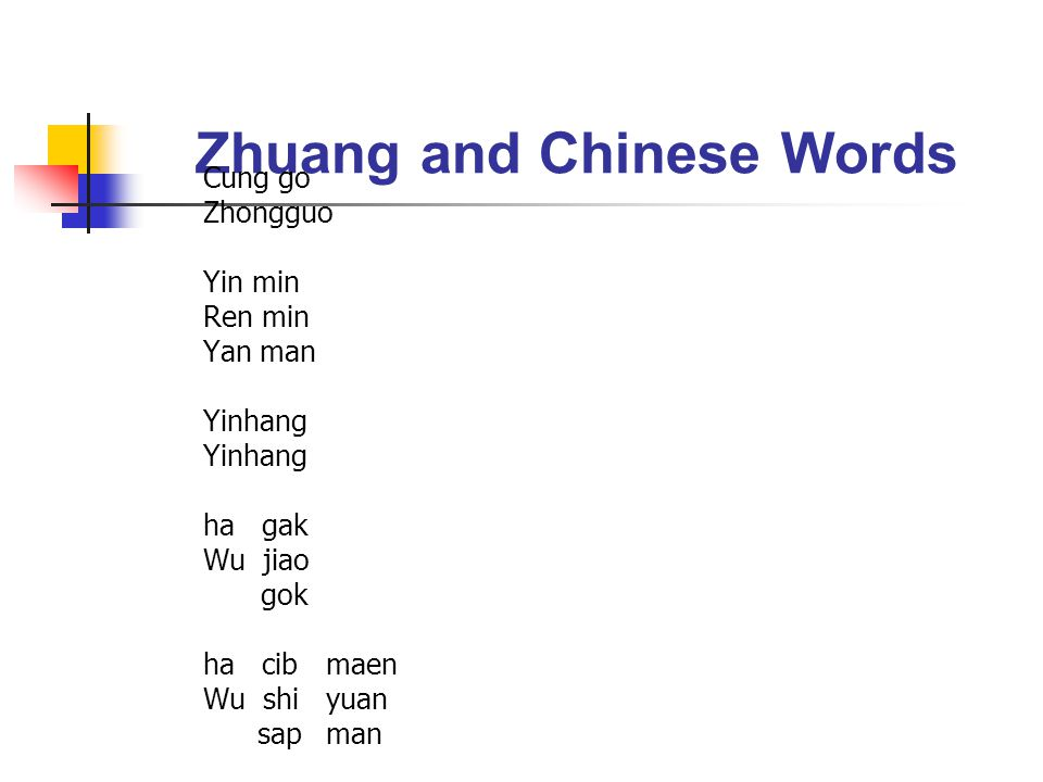 Zhuang and Chinese Words