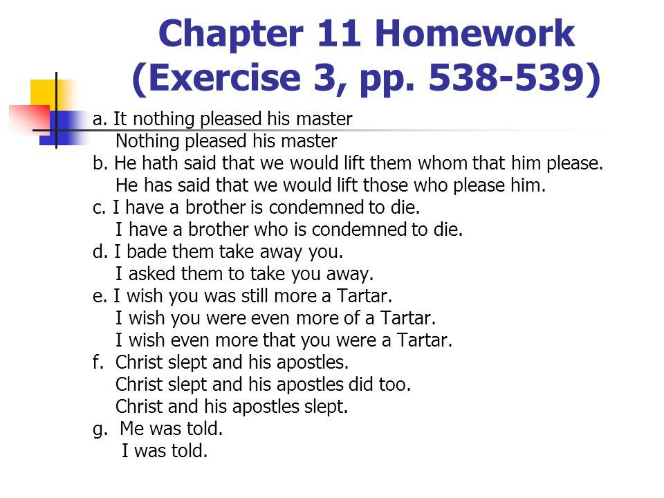 Chapter 11 Homework (Exercise 3, pp. 538-539)