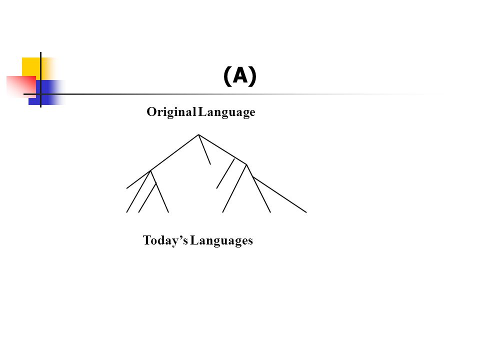 (A) Original Language Today's Languages