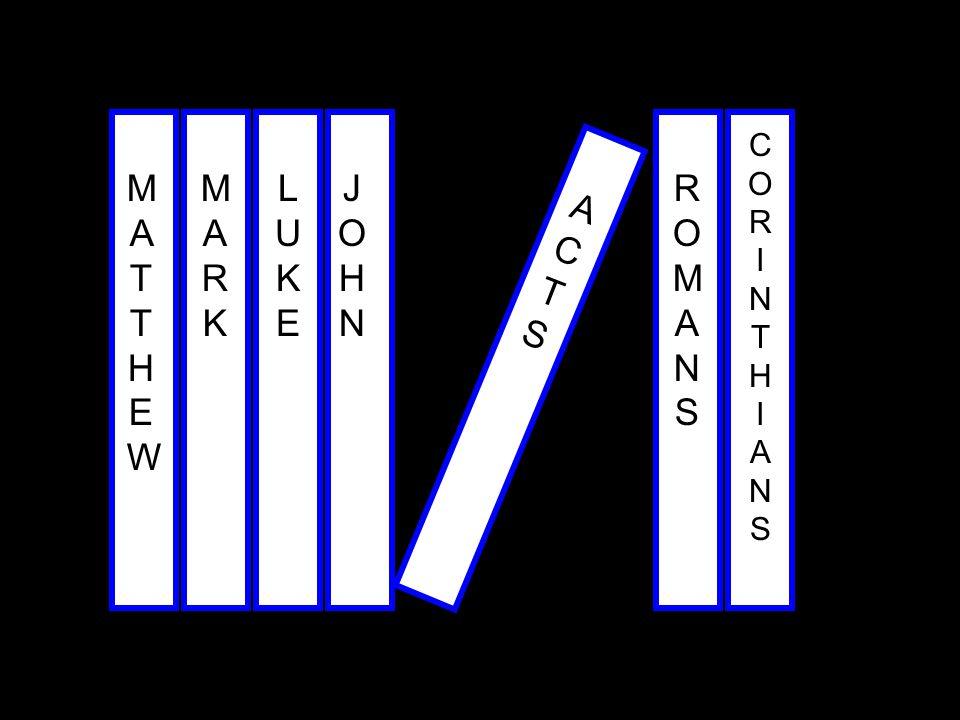 CORINTHIANS MATTHEW MARK LUKE JOHN ROMANS ACTS