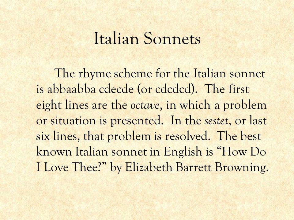 Italian Sonnets