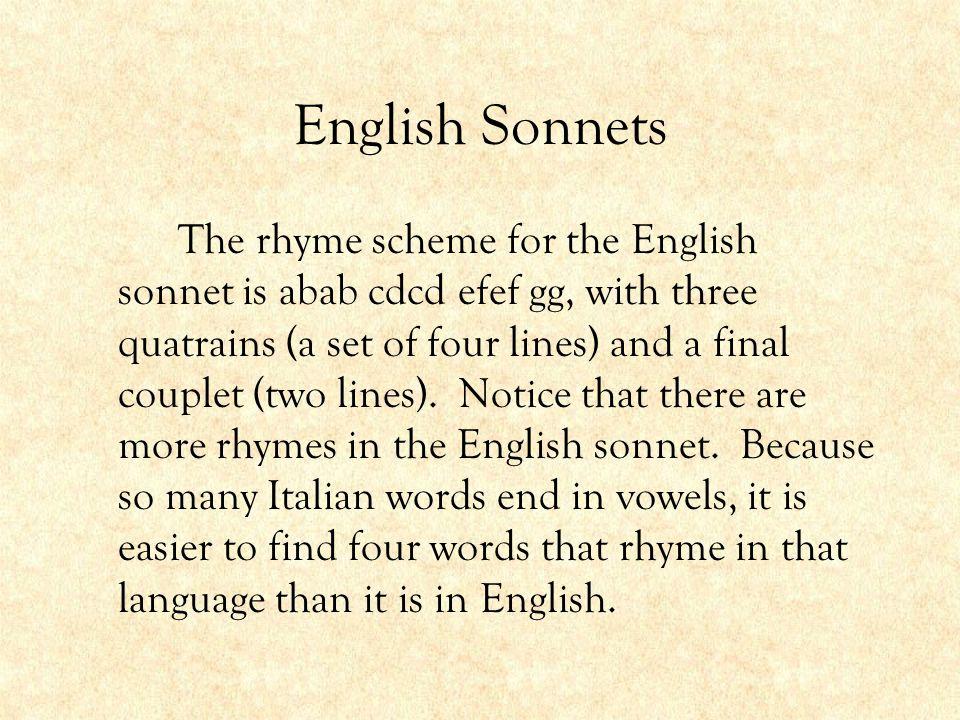 English Sonnets