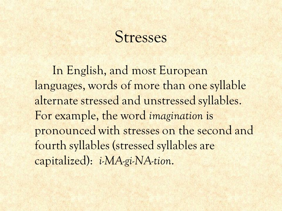 how to find stressed and unstressed syllables