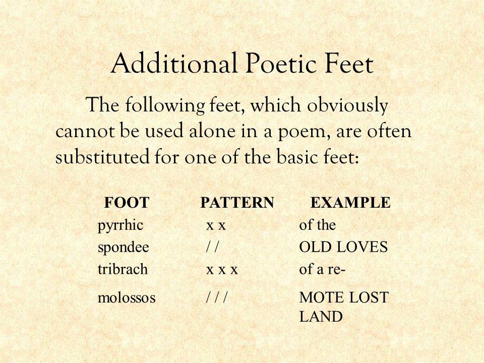 Additional Poetic Feet