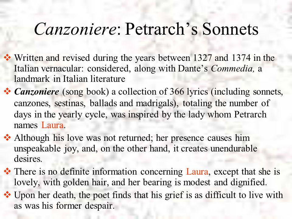 Canzoniere: Petrarch's Sonnets