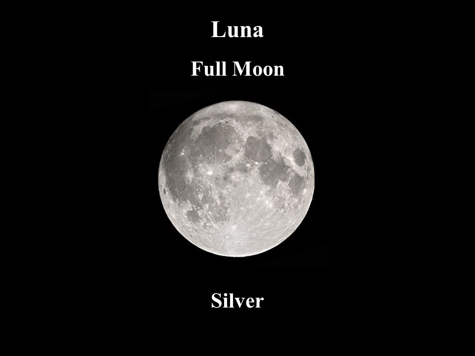 Luna Full Moon. The Feminine – reflective (rather than generative) energy, mirroring, power over all fluids, dew (grace)
